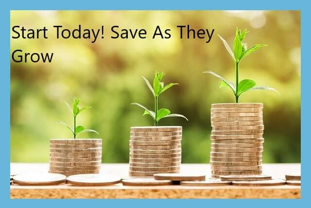 start saving money for your child today - money growing